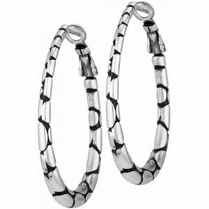 Pebble Oval Hoop Earrings