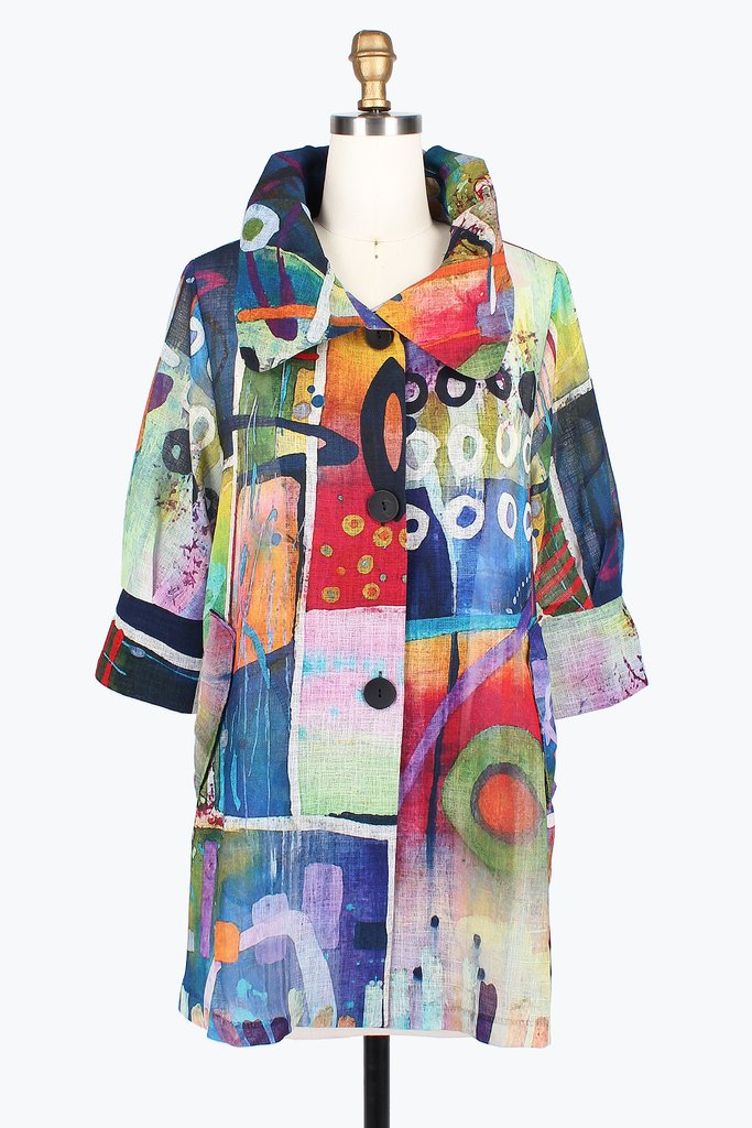 Abstract Watercolor Jacket