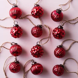 Small Red Glass Ornament