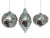 Onion Shaped Finial Silver Mercury Glass Embellished Ornament