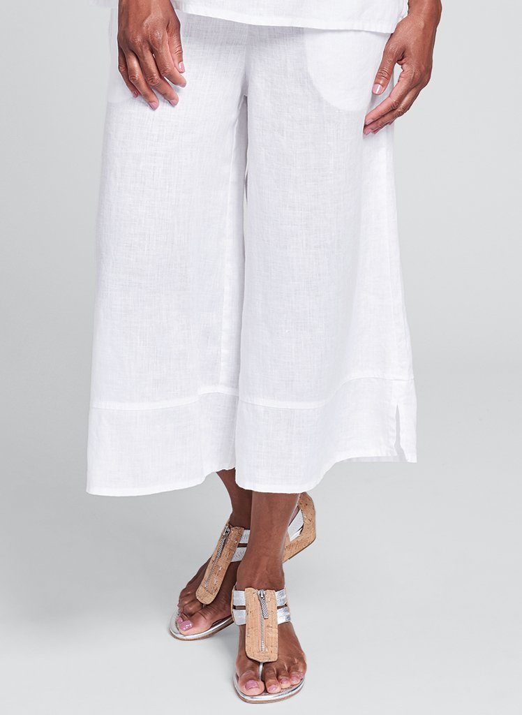 Flax Bloom Linen Pants