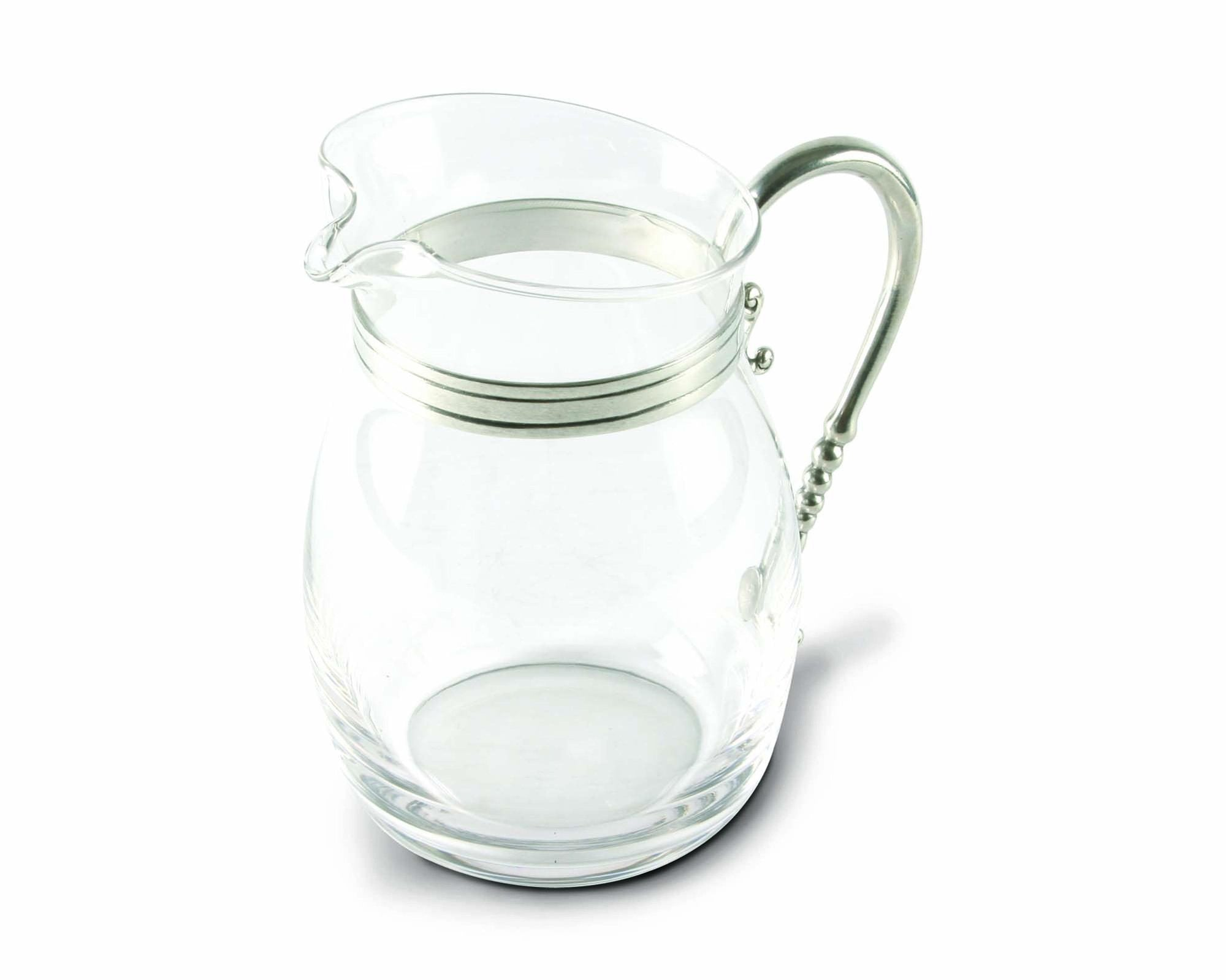 Glass Curved Large Pitcher