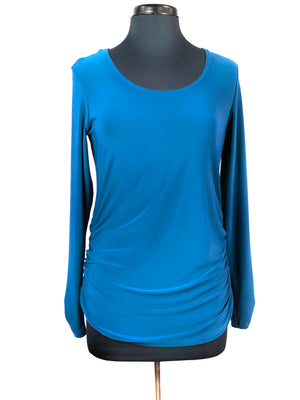 Glance Ruched Top, Long Sleeve