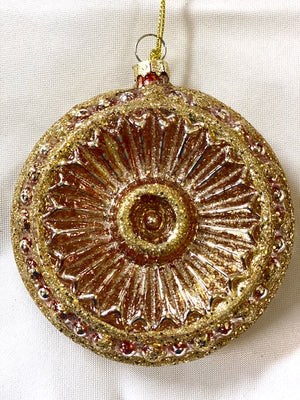 Red and Gold Glitter Mercury Ornament