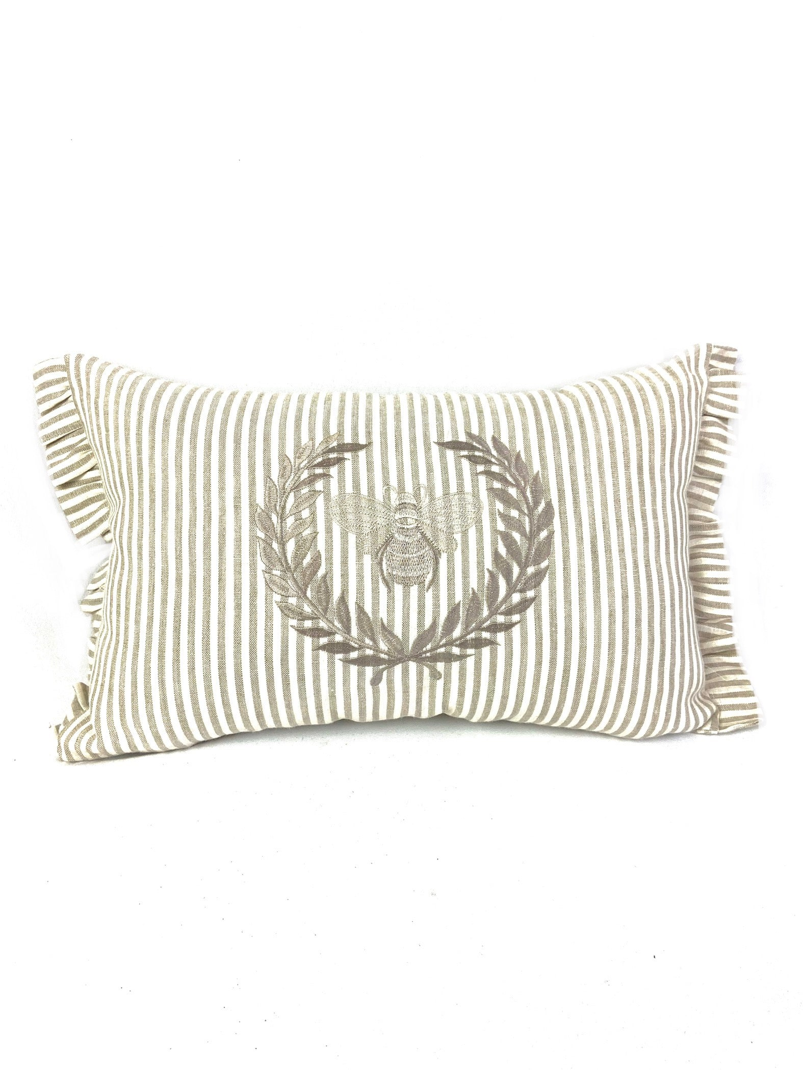 Bumble Bee Striped Linen Pillow