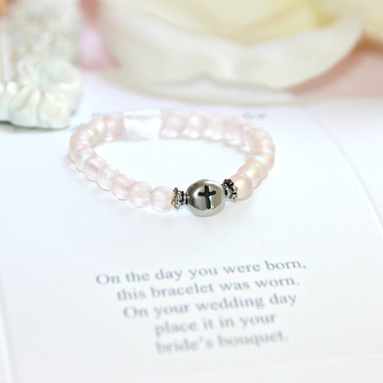 Baby'S First Keepsake Pink Bracelet With Poem