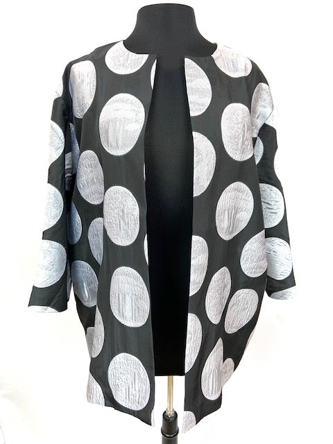 Clara Jacket Black and Silver