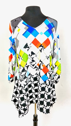 Multi Color Shapes Design Top