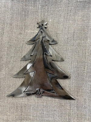 Metal Christmas Pine Tree Ornament