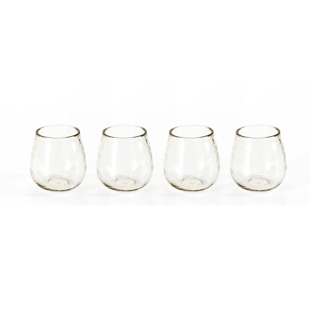 Hammered Stemless All Purpose Glass Set Of 4