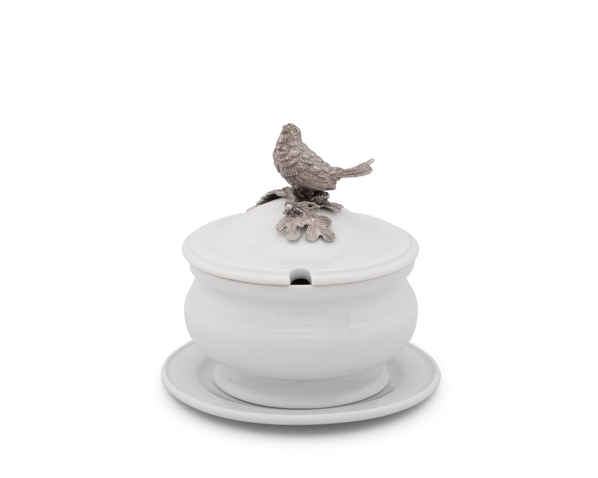 Porcelain Lidded Songbird Bowl