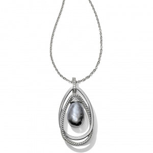 Neptune'S Rings Gray Pearl Pendant Necklace