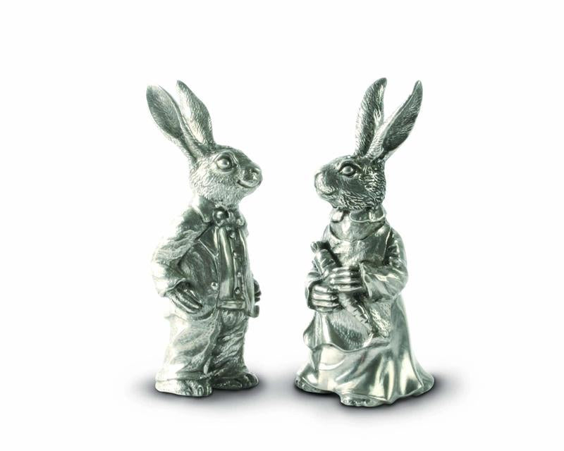 Dressed Rabbits Salt and Pepper Shakers