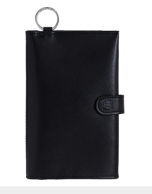 Back In Black Leather Organizer Wallet