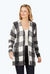 Bardot Textured Buffalo Plaid Cardigan