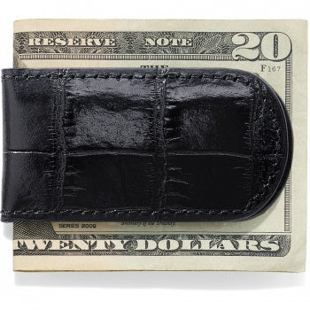 Croco Money Clip - Black