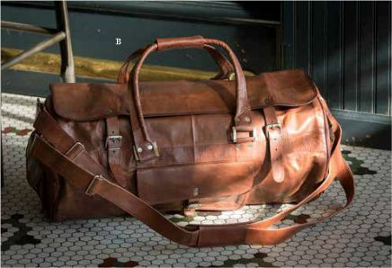 Leather Travelers Duffle Bag
