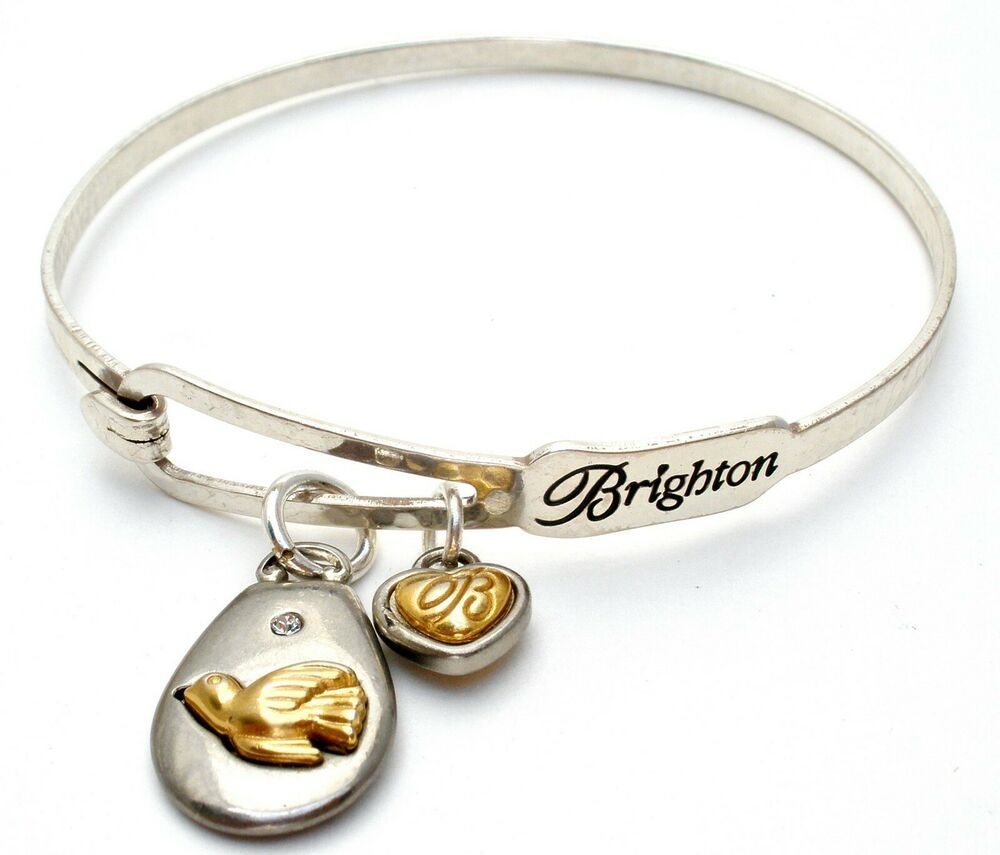 Brighton Peace On Earth Gold Dove Crystal Bracelet