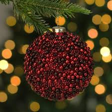 Red Bead Round Ornament