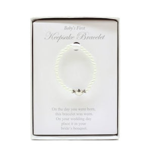 Baby'S First Keepsake Pearl Bracelet With Poem