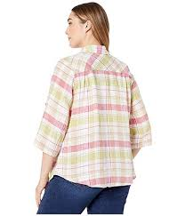 Reese 3/4 Plaid Shirt