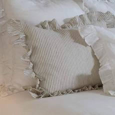 Stripe Linen Euro Pillow Sham