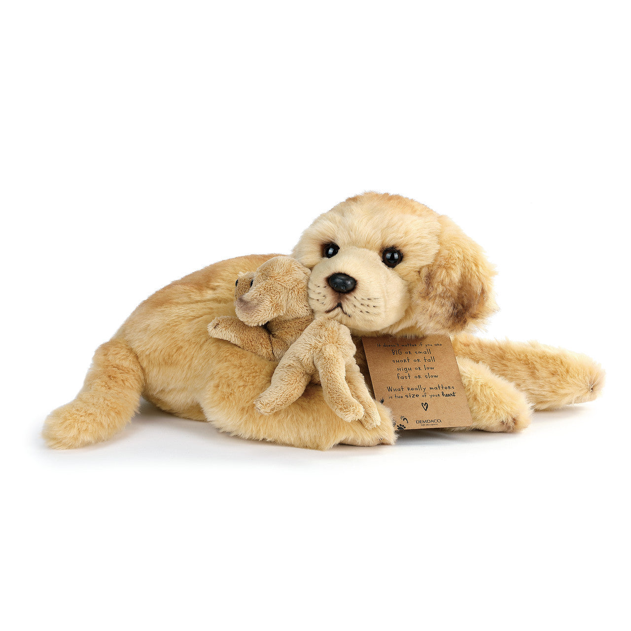 """You and Me"" Yellow Lab and Pup Plush Toy"