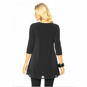 Black Jersey Knit Top
