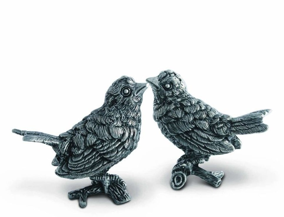 Song Bird Pewter Salt And Pepper Shaker