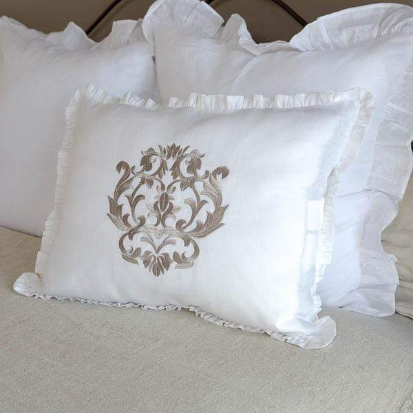 Damask Linen Standard Pillow Sham