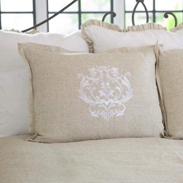 Damask Linen King Pillow Sham