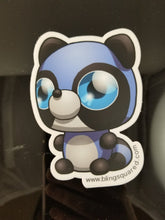Load image into Gallery viewer, Rebecca Raccoon Sticker