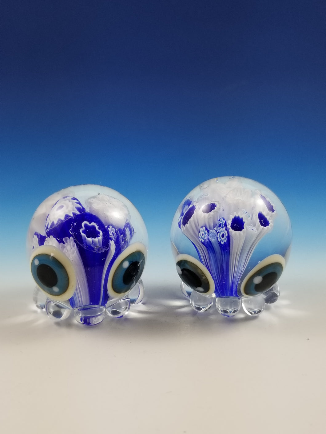 Fish Octopode Milliplode Hand Sculpted Glass Figure - blue color options