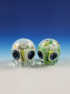 Fish Octopode Milliplode Hand Sculpted Glass Figure - green color options