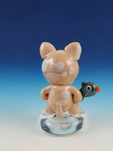 Grumpy Sphinx Kitty Hand Sculpted Glass Figure
