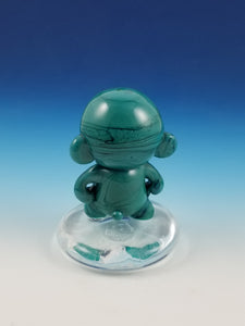 Jade Budda Munny Hand Sculpted Glass Figure