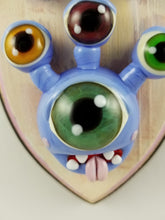Load image into Gallery viewer, Glass Wall Mount Beholder with Hand Painted Plaque