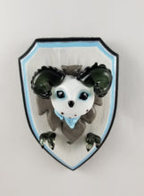 Load image into Gallery viewer, Glass Wall Mount Icewind Dale Owl Bear with Hand Painted Plaque
