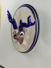 Load image into Gallery viewer, Glass Wall Mount Violet Buck with Hand Painted Plaque