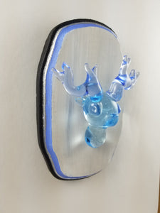 """Always"" Glass Wall Mount Deer Patronus with Hand Painted Plaque"