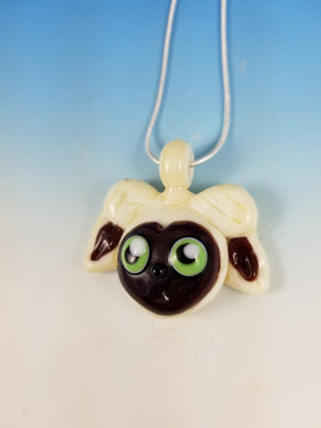 Momo Face Hand Sculpted Glass Pendant