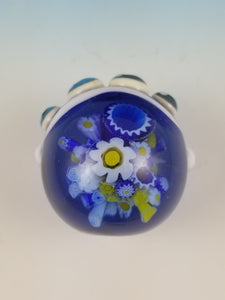 Blue Bouquet Millefiori Implosion Jumpsie Spider