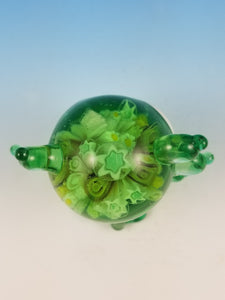 Emerald Bouquet Millefiori Implosion Axel Axolotl