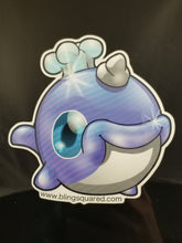Load image into Gallery viewer, Semi-Transparent Smirky Narwhal Sticker