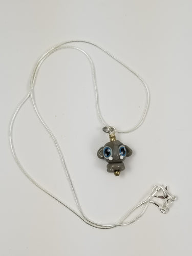 SUPER RETIRED Emily Elephant Glass Pendant