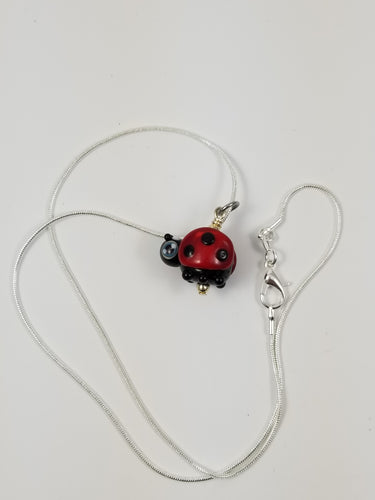 SUPER RETIRED Mister Ladybird Glass Pendant