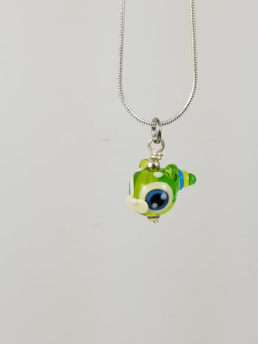 SUPER RETIRED Cat-Er-Pillar Glass Pendant