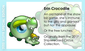 Erin Crocodile Hand Sculpted Glass Figure