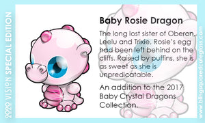 Rosie Baby Crystal Dragon Hand Sculpted Glass Figure