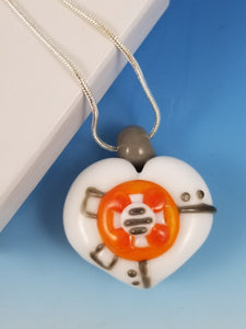 BB8 Inspired Fan Heart Pendant